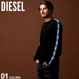 ディーゼル DIESEL ニット セーター ロゴ テープ コットンニット クルーネック ニットソー ブランド メンズ トップス リブ DSSY7QTATJ