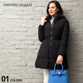 エンポリオ アルマーニ EMPORIO ARMANI 中綿 コート ウエストベルト ストレッチ ナイロン ブランド レディース アウター ハーフ丈 EAL6G2L682NUHZ