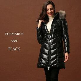 モンクレール ダウン レディース MONCLER ダウンコート ナイロン ファー フード パーカー ロング ダウンジャケット FULMARUS フルマルス BLACK ブランド MCLFULMARUS9