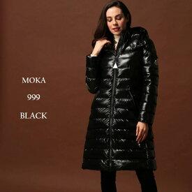 モンクレール ダウン レディース MONCLER ダウンコート マットナイロン フード パーカー ロング ダウンジャケット HERMINE エルミン BLACK ブランド MCLHERMINE9