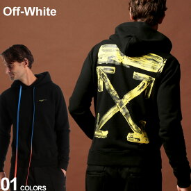 オフホワイト OFF-WHITE パーカー スウェット バックプリント ロゴ ACRYLIC ARROWS ブランド メンズ トップス プリント フード OWBB34F19E30010