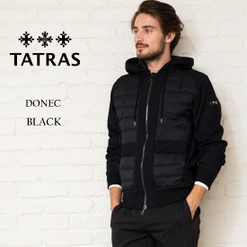 タトラス ダウン メンズ TATRAS ダウンジャケット ジャージー コンビ フード パーカー DONEC ドネク ブランド アウター ブルゾン TRMTK20A4194