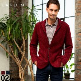 ラルディーニ ジャケット LARDINI ニットジャケット ウール混 ストライプ シングル 2ツ釦 ブランド メンズ アウター ニット テーラード 縞柄 LDLJM22IL53008