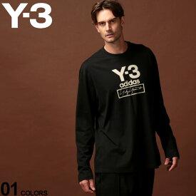 Y-3 ワイスリー Tシャツ 長袖 ロンT カットソー ロゴ プリント クルーネック STACKED LOGO BLACK ブランド メンズ トップス アディダス Yohji Yamamoto Y3FJ0406
