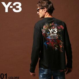 Y-3 ワイスリー Tシャツ 長袖 ロンT カットソー ロゴ バックプリント クルーネック フローラルブーケ TOKETA PRINT ブランド メンズ アディダス Yohji Yamamoto Y3FJ0416