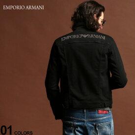 エンポリオ アルマーニ デニムジャケット EMPORIO ARMANI バックロゴ スタッズ ジージャン ブランド メンズ アウター ブラックデニム EA6G1B221D7WZ