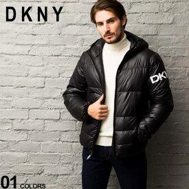 DKNY ダナキャラン 中綿ジャケット パーカー 撥水加工 ロゴ フード ブルゾン ブランド メンズ アウター DKNYDX9MN197