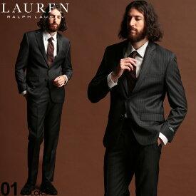 ローレン ラルフローレン スーツ LAUREN RALPH LAUREN ウール混 ストライプ シングル 2ツ釦 2B ULTRA FLEX ブランド メンズ ウール ノータック RLLOFTON1EZ0151