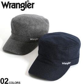 大きいサイズ メンズ wrangler (ラングラー) メルトン ロゴ刺繍 ワークキャップ 小物 グッズ 帽子 キャップ ウール シンプル 秋冬 BTDW282