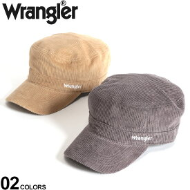 大きいサイズ メンズ wrangler (ラングラー) コーデュロイ ロゴ刺繍 ワークキャップ 小物 グッズ 帽子 キャップ コットン シンプル 秋冬 BTDW283