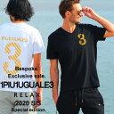 当店独占販売モデル 1PIU1UGUALE3 RELAX ウノ ピュ ウノ ウグァーレ トレ リラックス Tシャツ 半袖 ゴールド ラインス…