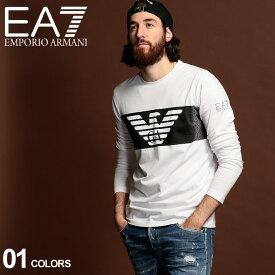 エンポリオ アルマーニ ロンT メンズ EMPORIO ARMANI EA7 イーグル ロゴ プリント クルーネック 長袖 Tシャツ WHITE ブランド トップス カットソー EA6GPT59PJQ9Z