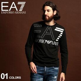 エンポリオ アルマーニ ロンT メンズ EMPORIO ARMANI EA7 ロゴ プリント クルーネック 長袖 Tシャツ BLACK ブランド トップス カットソー EA6GPT12PJ02Z