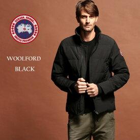 カナダグース ダウン メンズ CANADA GOOSE ダウンジャケット スタンドカラー WOOLFORD ウールフォード BLACK ブランド アウター ブルゾン CG3807M