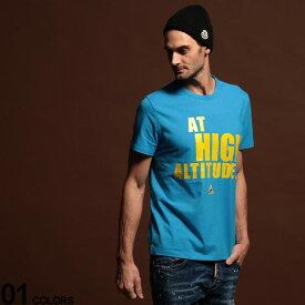 モンクレール Tシャツ メンズ MONCLER プリント クルーネック 半袖 ブランド At High Altitude MC80019508390T