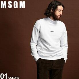 MSGM スウェット メンズ ロゴ ハイネック トレーナー MICRO LOGO ブランド トップス タートルネック プリント スエット MS2740MM89 SALE_1_e