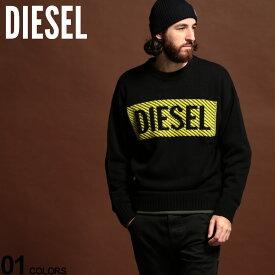 ディーゼル メンズ ニット DIESEL セーター ウール混 ロゴ クルーネック ニット ブランド トップス DSSYN4AAWC