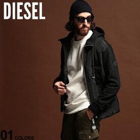 ディーゼル メンズ スウェット DIESEL フロント パディング 中綿 フード パーカー ブランド ブルゾン DSS57IBAFX