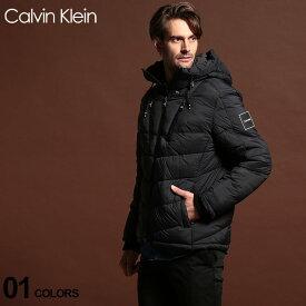 カルバンクライン メンズ ブルゾン Calvin Klein CK 中綿 パーカー フード ナイロン ジャケット ブランド アウター ロゴ CKCM950954