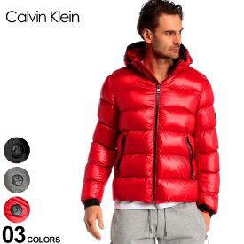 カルバンクライン メンズ ダウン Calvin Klein CK ダウンジャケット ナイロン フード パーカー ブランド アウター ブルゾン フード取り外し CKCM918826