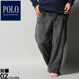 大きいサイズ メンズ POLO BCS (ポロ ビーシーエス) ワンポイント フリース ロング ルームパンツ パンツ ロングパンツ フリース もこもこ 部屋着 ルームパンツ BT2796G0L