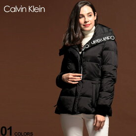 カルバンクライン レディース ブルゾン CK Calvin Klein 中綿ジャケット ナイロン ロゴ プリント パディングジャケット ブランド アウター CKLCW905831
