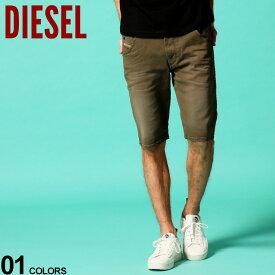 ディーゼル メンズ ショートパンツ DIESEL ジョグジーンズ ストレッチ ショーツ カーキ オリーブ D-KROOSHORT JOGGJEANS ブランド ボトムス ハーフパンツ DSKROOSHORT670M SALE_3_a