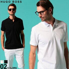 ヒューゴ ボス メンズ ポロシャツ HUGO BOSS 鹿の子 ロゴ 半袖 プレーン ブランド トップス コットン 綿100% HBPOLO10108581