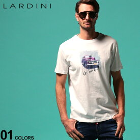 ラルディーニ メンズ Tシャツ LARDINI Que Viva Cuba アメ車 プリント クルーネック 半袖 ブランド トップス プリントT LDLTCUBA544014 SALE_1_a
