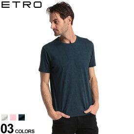 エトロ メンズ Tシャツ 半袖 ETRO シャドー ペイズリー 総柄 クルーネック ブランド トップス プリントT コットン ET1Y0209245 SALE_1_a
