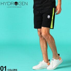 ハイドロゲン メンズ ショートパンツ HYDROGEN ナイロン ジャージー ショーツ イエロー ライン SUPERFAST ロゴ ブランド ボトムス スカル HY265106 SALE_3_a