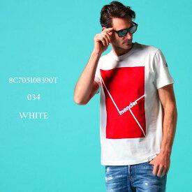 モンクレール メンズ Tシャツ 半袖 MONCLER ボックスロゴ プリント クルーネック ブランド トップス ロゴT プリントT MC8C705108390T