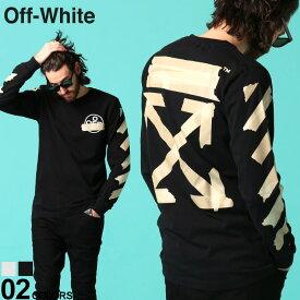 オフホワイト メンズ Tシャツ 長袖 OFF-WHITE ロンT ロゴ バックプリント クルーネック TAPE ARROWS ブランド トップス プリントT ロゴT OWAB01R20185002 SALE_1_b