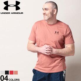 大きいサイズ メンズ UNDER ARMOUR (アンダーアーマー) heatgear LOOSE 胸ロゴ クルーネック 半袖 Tシャツ LEFE CHEST Tシャツ クルー 半袖 プリントT 春 夏 スポーツ トレーニング 1326799