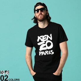 ケンゾー メンズ Tシャツ 半袖 KENZO PARIS ロゴ プリント クルーネック ブランド トップス プリントT ロゴT KZFA55TS0184SA SALE_1_a
