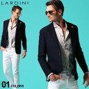 ラルディーニ メンズ ジャケット LARDINI コットン ニット ジグザグ ジャージー シングル 2ツ釦 2B ブランド テーラー…