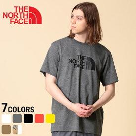 ノースフェイス Tシャツ メンズ THE NORTH FACE 綿100% 迷彩ロゴプリント クルーネック 半袖 EASY TEEメンズ 男性 トップス クルー 半袖 プリント プリントT 春 夏 コットン カモフラ アウトドア NF2TX3