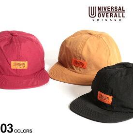 大きいサイズ メンズ UNIVERSAL OVERALL (ユニバーサルオーバーオール) タフタ ロゴワンポイント 6パネル キャップ 帽子 無地 ベースボールキャップ 春 夏 シンプル 日よけ BTDS270