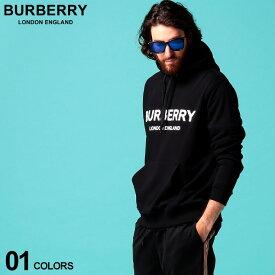 バーバリー メンズ パーカー スウェット BURBERRY ロゴ プリント プルオーバー ブランド トップス プルパーカー スエット BB8009509 SALE_1_e