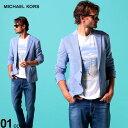 マイケルコース メンズ ジャケット MICHAEL KORS ジャージー シングル 2ツ釦 ジャケット SLIMFIT ブランド メンズ アウター テーラード MMKKIMBLEKVY