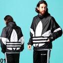 アディダス オリジナルス メンズ ナイロンジャケット adidas originals ビッグ トレフォイル ロゴ ナイロンパーカー ブルゾン ブランド メンズ アウター ADFM3757