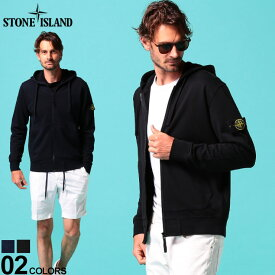 ストーンアイランド メンズ パーカー スウェット STONE ISLAND 袖ロゴ フード フルジップ ブランド メンズ トップス フード スエット SI64251 SALE_1_e