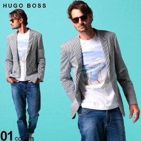 ヒューゴ ボス メンズ ジャケット HUGO BOSS シアサッカー ストライプ ストレッチ シングル 2ツ釦 ブランド メンズ テーラード コットン HBHARTL10224428 SALE_2_c