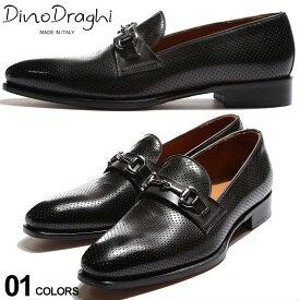 ディーノ ドラーギ メンズ ローファー Dino Draghi レザー パンチング ビットローファー ブランド 靴 シューズ 革靴 黒 マッケイ DD12205MIRKO SALE_4_b