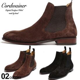 コードウェイナー メンズ ブーツ Cordwainer スエード サイドゴア ショートブーツ ブランド シューズ 靴 スウェード 革靴 黒 グッドイヤーウェルテッド CW17051VENECIA SALE_4_c