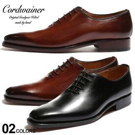 コードウェイナー メンズ シューズ Cordwainer レザー ホールカット プレーントゥ 内羽根 ブランド 靴 革靴 黒 茶色 グッドイヤーウェルテッド CWBOND4168 SALE_4_b