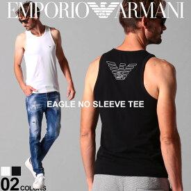 エンポリオ アルマーニ メンズ タンクトップ EMPORIO ARMANI バックプリント イーグル ロゴ ストレッチ ブランド トップス ノースリーブ インナー EA110828CC735