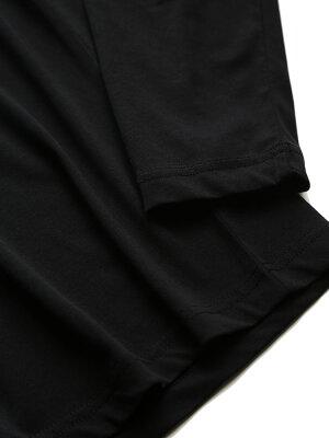 綿100%迷彩BIGロゴクルーネック長袖シャツ