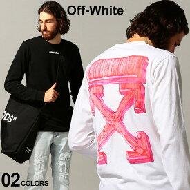 オフホワイト メンズ OFF-WHITE Tシャツ 長袖 バックプリント クルーネック ロンT マーカー MARKER ブランド トップス プリント OWAB01E20JER003 SALE_1_b