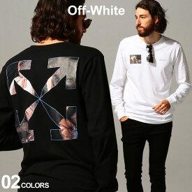 オフホワイト メンズ OFF-WHITE Tシャツ 長袖 バックプリント クルーネック ロンT カラバッジョ CARAVAGGIO ANGEL ブランド トップス プリント OWAB01E20JER006 SALE_1_b